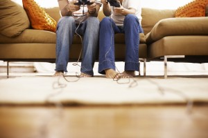 Playing Video Games --- Image by © Royalty-Free/Corbis