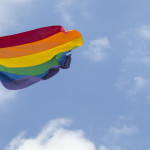 A new flagpole and rainbow flag raised today at Taylor square in Darlinghurst. 8th October 2014. Picture by DAMIAN SHAW.com / CITY OF SYDNEY